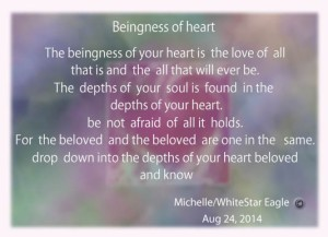 fire of love ~  beingness of heart